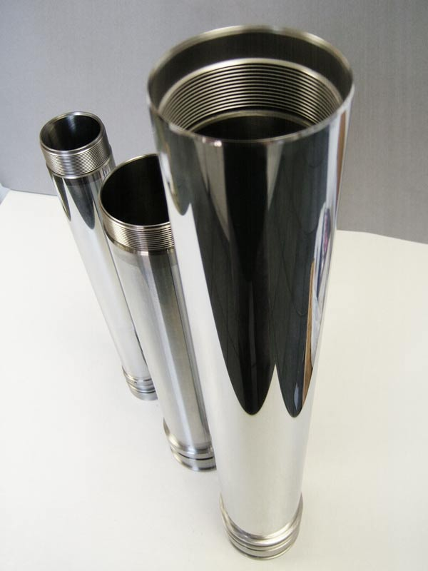 CNC machining 3 chrome plated cylinders made by Intermach Engineering