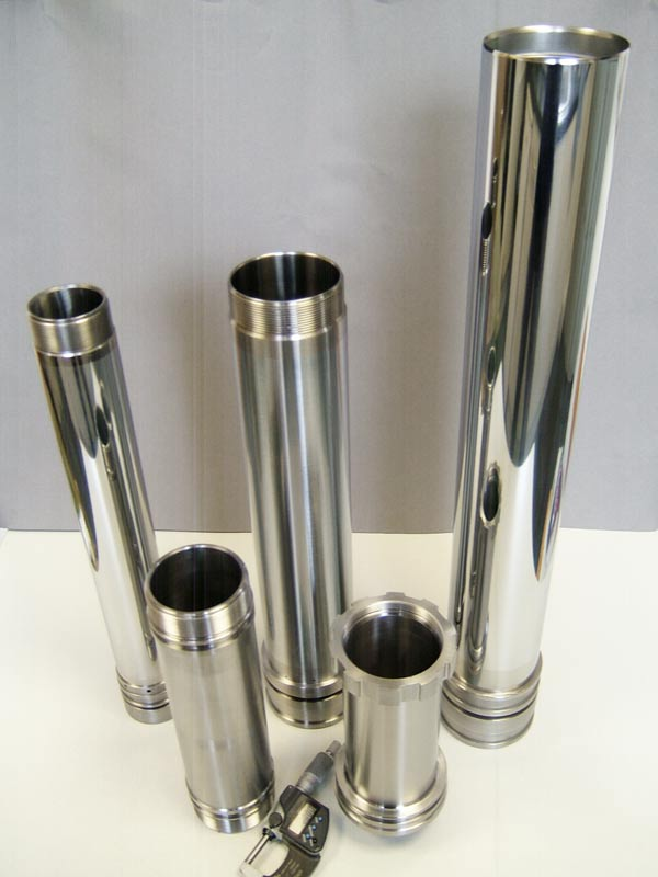 CNC machining 5 chrome plated cylinders made by Intermach Engineering